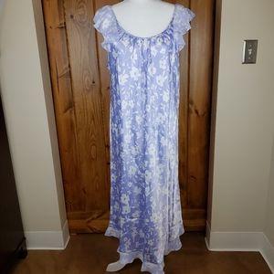 Oscar de la Renta Polyester Satin Nightgown, sz XL
